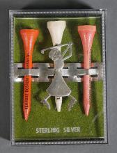 Leonore Doskow Vintage Sterling Golf Tee Holder