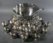 EUGEN FERNER Silver Plated 27-pc Punch Bowl Set