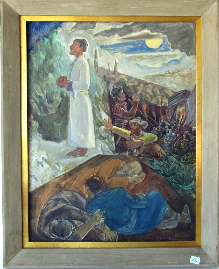 Stefan Hirsch stefan hirsch on poster paint on board religious