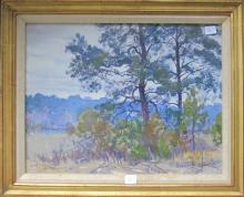 Aiden Lassell Ripley watercolor wooded landscape, …