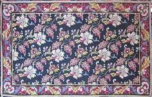 Antique needlework panel, 49 by 29 inches.