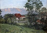 Edouard BRUN (1860-1935) «Chaîne de Belledonne au