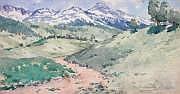 Edouard BRUN (1860-1935) Paysage de montagne.