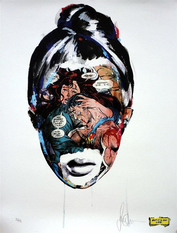 Print , CHEVRIER  Sandra (1983 - ), When It's Too Late ,  La toute première sérigraphie de Sandra Chevrier,