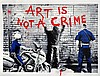 Print , MR BRAINWASH  (1966 - ), Art Is Not A Crime ,  Sérigraphie signée en bas à gauche. Numérotée sur, Mr Brainwash, €460