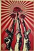 Print , FAIREY  Shepard (1970 - ), Guns and Roses ,  Sérigraphie numérotée sur 750. Signée en bas à dro, Shepard Fairey, €560