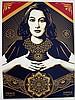 Print , FAIREY  Shepard (1970 - ), Peace & Justice Woman ,  Sérigraphie en 3 couleurs avec 1 vernis sur 100% c, Shepard Fairey, €1,000