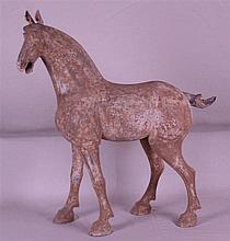 Pottery Horse Figure - China, in the style of the Tang tomb figures,massive