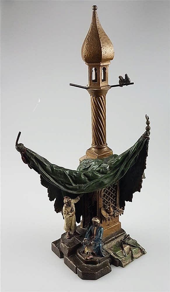 bergmann franz xaver 1869 vienna 1936 bronze table lamp. Black Bedroom Furniture Sets. Home Design Ideas