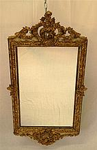 Wall Mirror -Softwood elaborately carved  vividly drawn, partially broken (