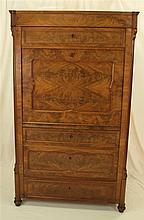 Sekretär - furniert,mit 4 Schubladen und einer Klappe,hinter der Schreibkla