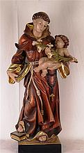 Lang, Richard - ''St. Anthony with Jesuskind'', wooden figure, Saint Anthon