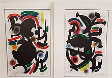 Miró, Joan (1893 Barcelona - 1983 Palma de Mallorca) - Two color lithograph