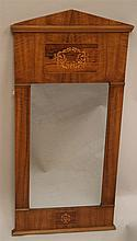 Biedermeier mirror - 19th century, cherry, rectangular shape with classic g