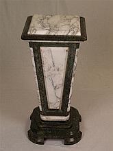 Marmorsäule - zweifarbig, nach unten hin verjüngend,H.ca.79cm, Sockel ca.37