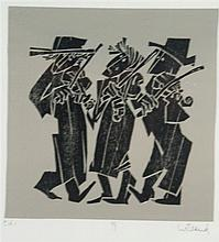 . Willand, Detlef (born 1935 Heldenheim) - ''99'', color woodcut in black o