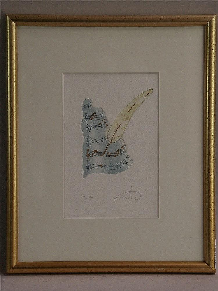 Plaut, Amos(*1940 Tel Aviv)- ''Notenfelder'', Radierung, num. ''ea'', ca. 1