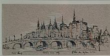 Willand, Detlef (*1935 Heldenheim) - ''Pont Neuf Paris um elf L'Ile de la C