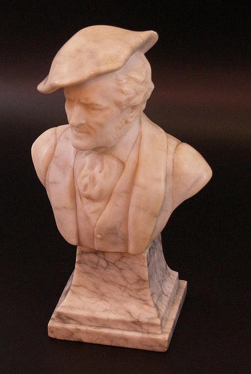 Büste ''Richard Wagner'' - Weißer Kunstmarmor, Wiener Manufaktur Friedrich