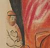 Chagall,Marc(1887 Witebsk - 1985 Saint-Paul-de-Vence)- ''Maternité'',Farblithographie auf Arches,unterhalb in Blei signiert und nummeriert-Exemplar 175/300,Édition Galerie Maeght,Paris 1954,ca.52x67,5cm (PP-Ausschnit:ca.56,5x74cm),aufwändig im PP