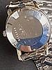 Herrenarmbanduhr - Eterna-Matic,1960er Jahre,rundes Stahlgehäuse,Nr.4609502, silbernes Ziffernblatt mit Stab-Indizes und zentraler Sekunde, Automatikwerk,funktionsfähig,Kratzer,par tiell guillochiertes Flexarmband