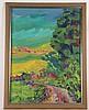 Eck,S. - Landschaft im expressiven Stil,Öl auf Leinwand,unten links signiert und datiert 87,ca.90x69cm,Rahmung