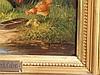 Frank-Colon, Eugen (um 1900/Tiermaler in Düsseldorf und München) - Hühnerhof, Öl auf Holz, unten rechts signiert 'Eug. Frank-Colon', ca.16 x 21cm,schwere Prunkrahmung