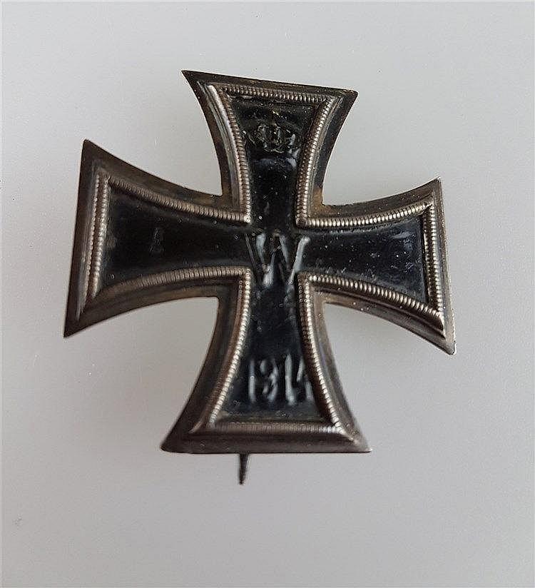 Eisernes Kreuz WKI- 1914,Kaiserreich,1. Klasse, mit Nadelhaken, ca.4,5x4,5cm