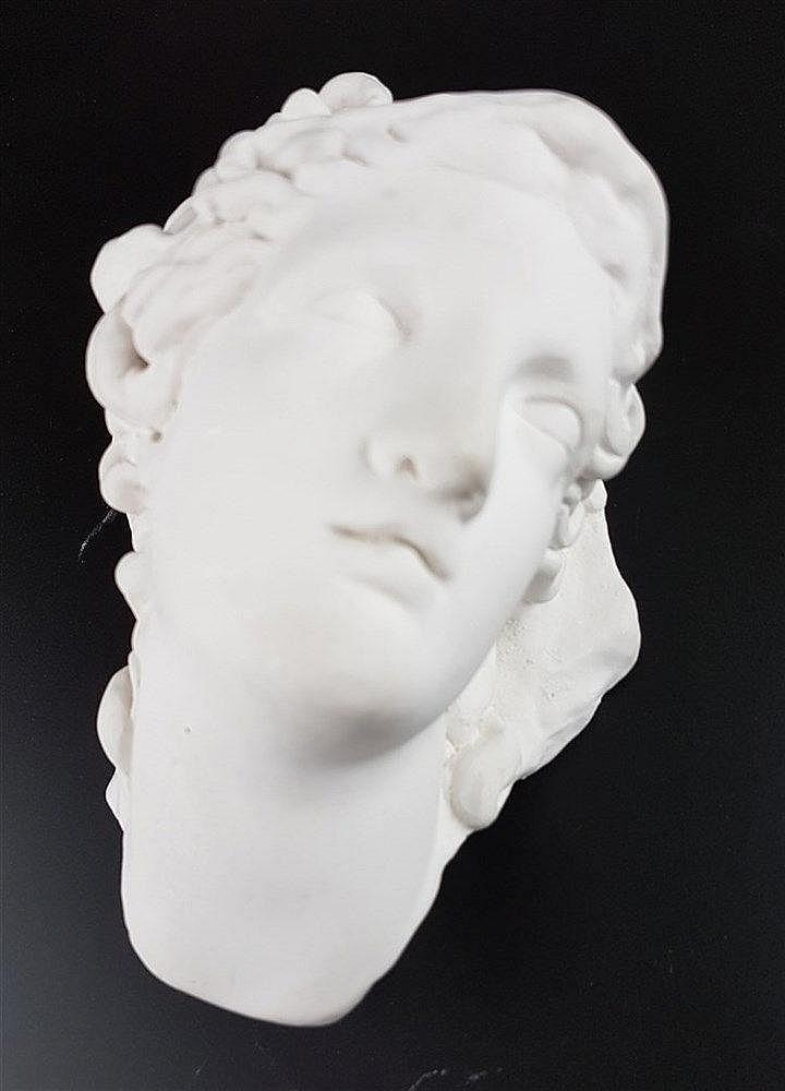 Kopf der Göttin Athene mit Medusenmaske - Gipsabguss nach dem Marmor-Original aus hellenistisch-römischer Zeit,das gegen Ende des 18.Jhs.in Rom gefunden wurde,ca.18cm