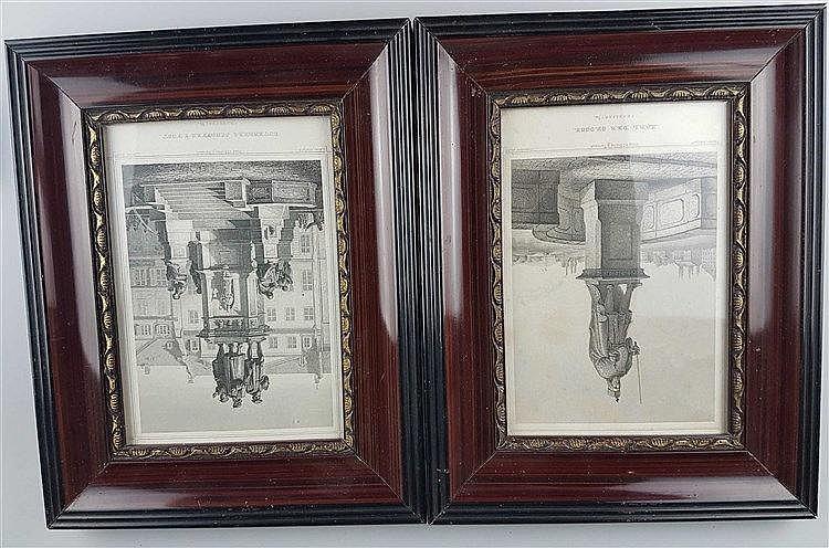 Konvolut Grafik 19.Jh. - ''Karl der Grosse'', (J.Sonnenleiter) und ''Guttenberg Schöffer&Fust;'' (C.Strunz),Frankfurt am Main, Verlag v.C.Koehler Jr.Darmstadt, um 1870/80, Stiche, je ca.17x13 cm, Stockfleckig, unter Glas gerahmt