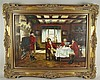 Kopist - Jagdfrühstück im Herrenzimmer,Öl auf Leinwand, Motiv nach Frank Moss Bennett (1874-1953),rechts unten signiert,ca.60x80cm,Rahmung