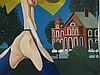 Plotin,Henri (*1939 Berlin)- L'Exceptionnelle'',Öl auf Leinwand, 1973,rechts unten signiert und datiert,ca.128x128cm,verso auf dem Keilrahmen signiert und bezeichnet, Atelierrahmung -Pseudonym für Gert Neuhaus,zwischen 1956 und 1962 studierte P.