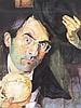 Grützke, Johannes (*1937 Berlin,tätig in Berlin)- Plakat ''Ich bin ein Berliner'', Farboffset, handsigniert,ca.60x80cm, unter Glas gerahmt ca.70x90cm