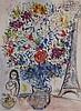 Chagall, Marc(1887 Witebsk - 1985 Saint-Paul-de-Vence) - ''Blumenstrauß'', Farboffset, ca. 57 x 42 cm, unter Glas gerahmt