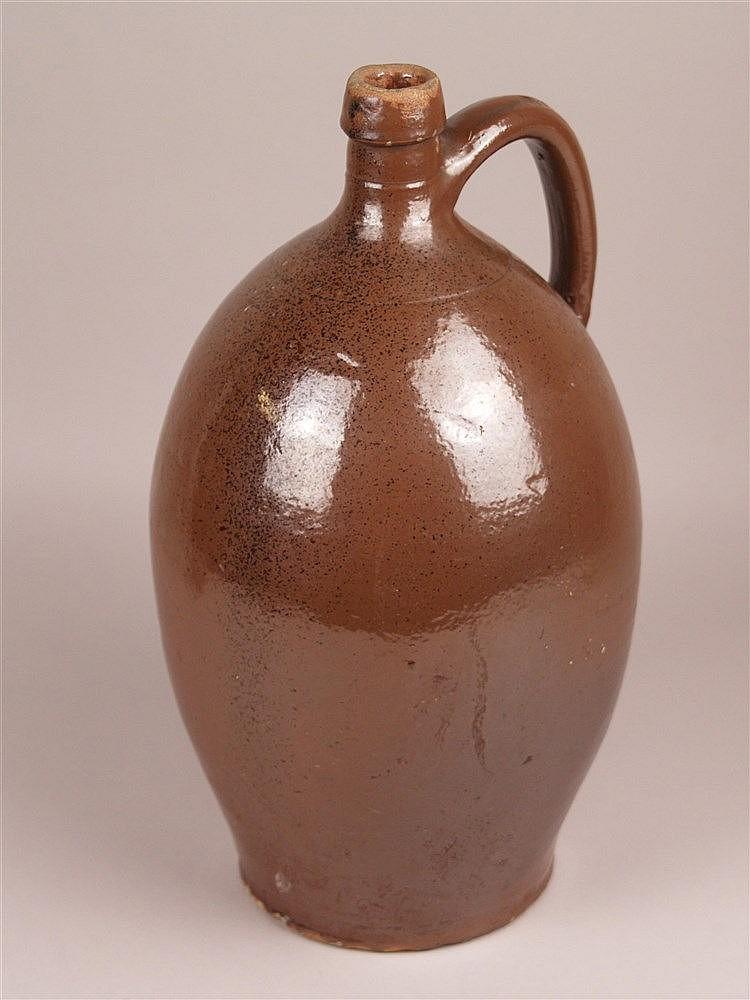 Tonkrug - braun glasiert,bauchige Form, H.ca.34cm