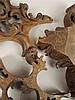 Drei Holzapplikationen - reich beschnitzt, durchbrochen, Rokoko-Stil, München 19.Jh., Holzenden tlw. abgebrochen, H.ca.25-30 cm