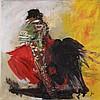 Jani - ''El Toro'', Acryl/Öl-Mischtechnik auf Leinwand,signiert,ca.100 x 100 cm,ungerahmt