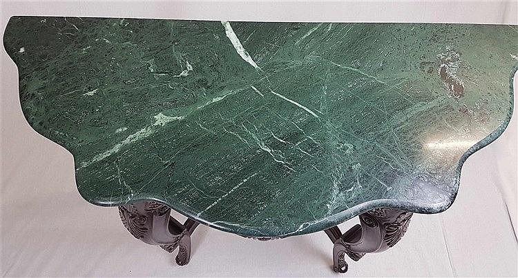 konsolentisch mit marmorplatte stilm bel vier gebogte bei. Black Bedroom Furniture Sets. Home Design Ideas