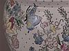Cachepot - China, polychrome Bemalung mit Emaillefarben, umlaufender Blumendekor mit Schmetterlingen, H.ca.25cm, D.ca.30cm,auf Holzständer