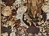 Klösterliche Wachsarbeit - 19./20.Jh.,im Zentrum Jesuskind und kleine Engelfiguren aus Wachs,geschmückt mit Papier- und Stoffblumen, unter Glas gerahmt, ca.44x34x10cm