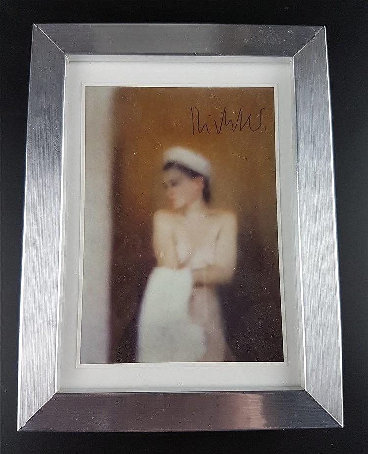 Richter, Gerhard (*1932 Dresden) - ''Kleine Badende'',Postkarte/Multiple,handsigniert , ca.14,7x10,5cm,unter Glas gerahmt