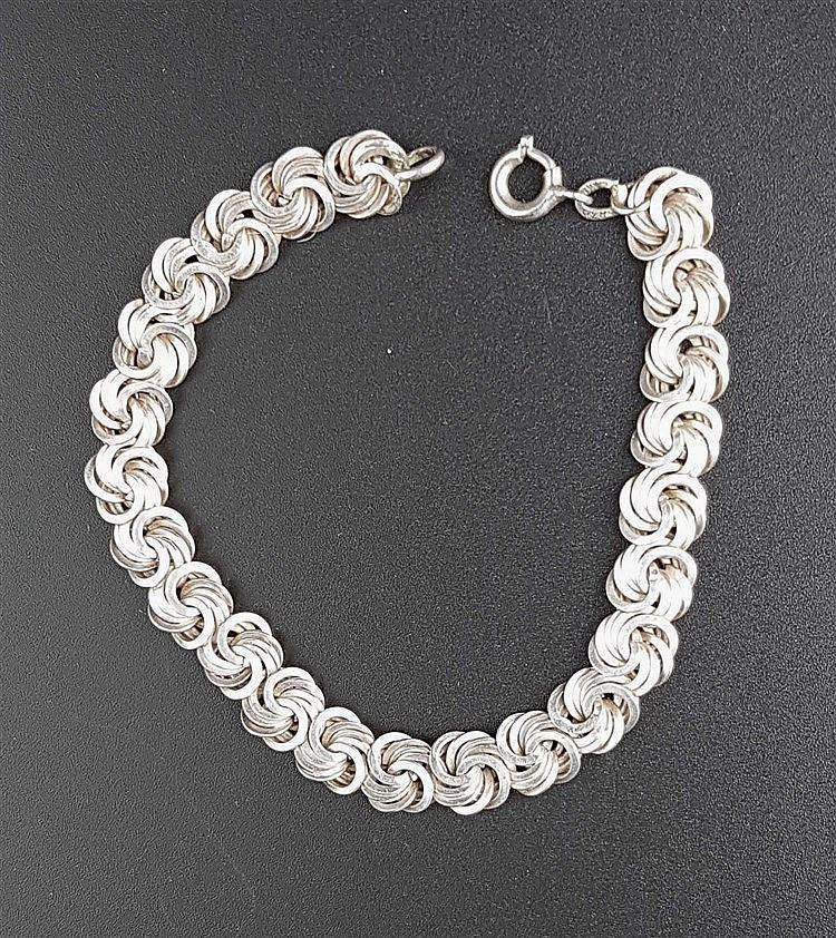 Silberarmband - Wirbelglieder,Silber gestempelt 835,Gew.ca.13g,L.ca.18cm