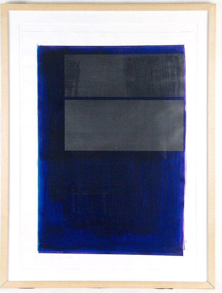 Niessen, Jochen - Ohne Titel, sign., dat.1999, Mischtechnik auf Papier, Blattmaße ca.70x50cm, in PP unter Glas gerahmt