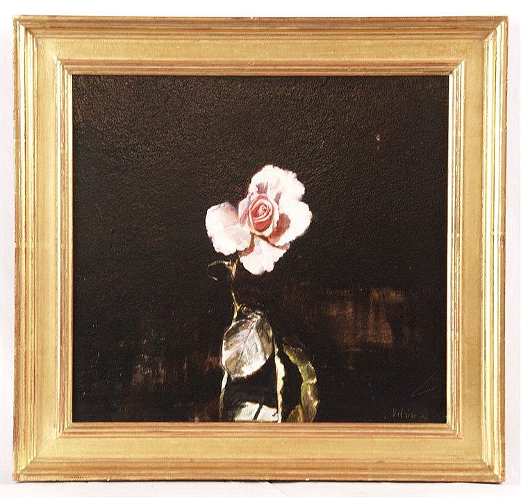 Del Grosso,James (1941-2013) - Rose I,Öl auf Platte,unten rechts signiert,ca.36,2x38,1cm,Holzrahmung
