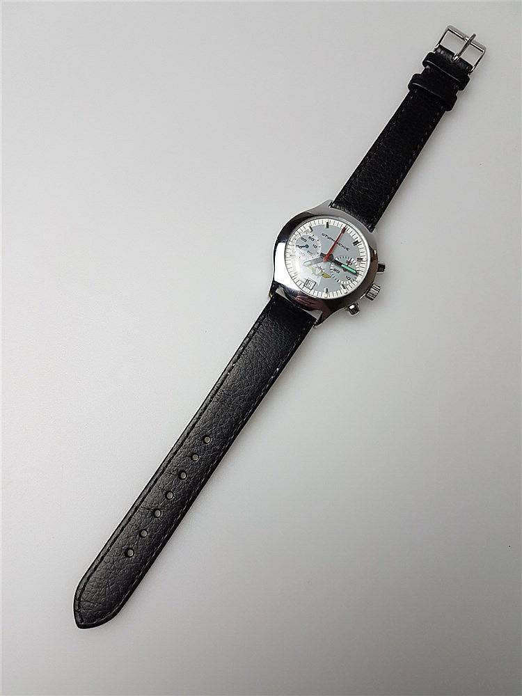 Fliegeruhr- russisch, Uhrenmarke Sturmanskie, Chronograph, mit Datum, frühe Version, D.ca.4cm