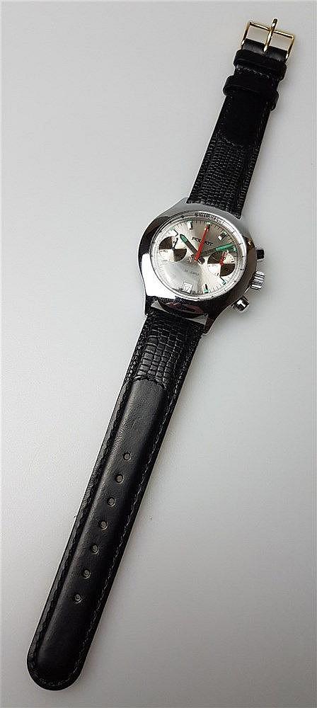 Fliegeruhr- russisch, Uhrenfirma Poljot, Chronograph, mit Datum, frühe Version, D.ca.37,5mm