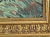 Böhler,E. - Bauer bei der Aussaat, Öl auf Leinwand, rechts unten signiert und datiert'36',ca.95x44cm,Rahmung