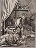 Dürer,Albrecht - ''Der heilige Hieronymus im Gehäus'' von 1514, Faksimile,ca.40,5x27cm, unter Glas gerahmt