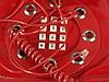Telefonhandtasche - 1970-80er Jahre, Anschluss in d.Tasche, rot, ca.28x24x7cm