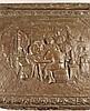 Deckeltruhe - um 1900, Holzkorpus ummantelt mit getriebenem Kupferblech,darauf bäuerliche Szenen und Zierbordüren,ca.53x66,5x40cm,Altersspure n